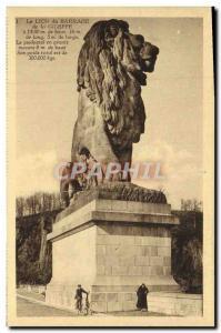 Old Postcard The Lion Du Barrage De La Gileppe
