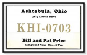 Ohio, Ashtabula QSL Ham Radio - (MX-019)