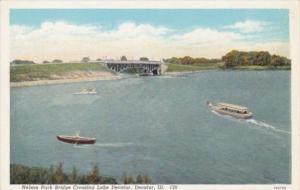 Illinois Decatur Nelson Park Bridge Crossing Lake Decatur Curteich