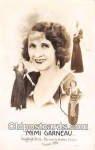 Circus Oddities Mimi Garneau Ringling Bros, Barnum & Bailey Circus 1936 Unused