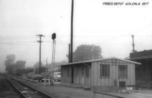 Ada Oklahoma 1977 Frisco train depot real photo pc Y14688