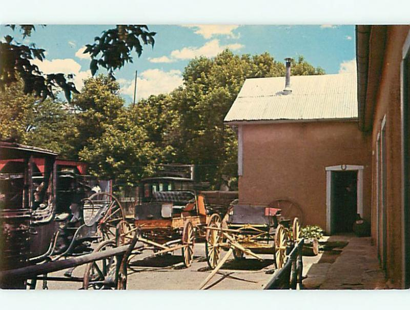 Trinidad CO Wagons Carriages Western Wood Wheels Stagecoach   Postcard # 5555