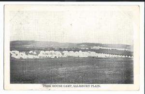 Park House Camp, Salisbury Plain PPC, Tidworth Barracks 1910 PMK From Resident