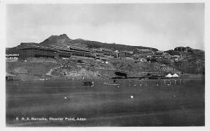 Yemen Aden, Steamer Point, R.A. Barracks, real photo