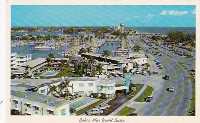 Florida Fort Lauderdale Bahia Mar Yacht Basin and New Highway A1A 1964
