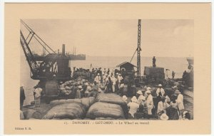 Benin; Dahomey, No 15, Cotonou, At Work On The Wharf PPC, By ER, Unused, c 1920s