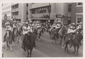Canadian Rodeo Riders Procession at Petroleum Building Postcard