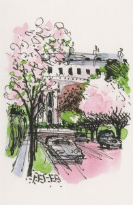 Regents Park Chester Road Terrace London Painting Postcard
