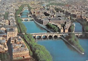 France Paris L'ile de la Cite et la Pointe du Vert Galant Ponts Panorama