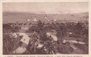 ITALY, 1900-1910´s; La Spezia, Grand Hotel Royal Groge Di Malta, Ill Golfo D...