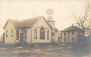 Bayard Iowa~Church & Parsonage~An Idea Of How We Look~Face South~1911 RPPC