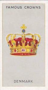 Phillips Vintage Cigarette Card Famous Crowns 1938 No 8 Denmark