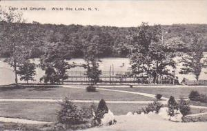 New York White Roe Lake Lake And Grounds Albertype