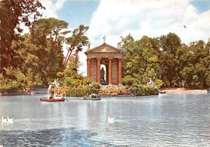 Italy Old Vintage Antique Post Card Little Lake Roma 1958