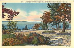 Linen of Lake Medota from Memorial Union Terrace Madison WI