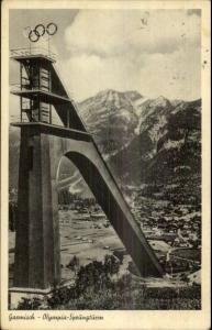 1936 Olympics Garmisch Germany Real Photo Postcard