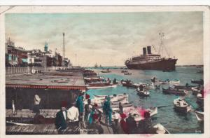 RP, PORT-SAID, Egypt, Africa, 1920-1940s; Arrival Of A Steamer, Passengers