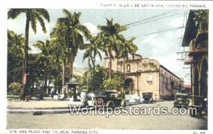 Panama Panama City Sta Ana Plaza & Church