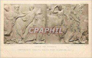 Postcard Old Castle for sacrifive Parthenon frieze south side slabs XL XLII