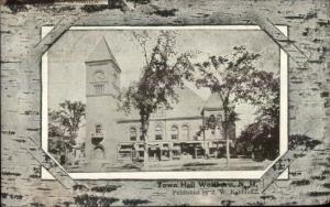 Wolfeboro NH Town Hall c1910 Postcard