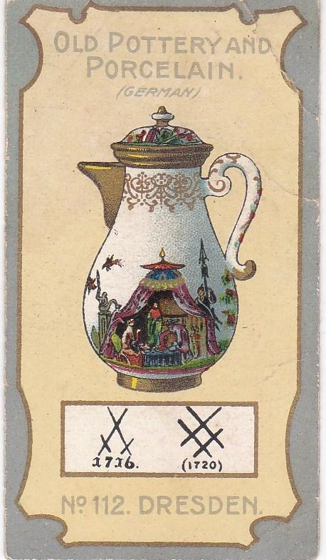 Cigarette Card R J Lea Chairman Old Pottery and Porcelain 3rd series No 112