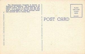 LPS90 Pennsylvania Turnpike LARGE big letter Postcard