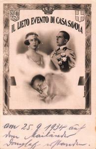 Il Lieto Evento di Casa Savoia Family Royalty Italy Postcard