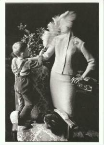 Fashion Model and Frank Horvat's Son Modern Postcard