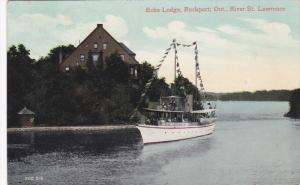 Echo Lodge & Steamship , ROCKPORT , Ontario, Canada, PU-1911 [St Lawrence River]