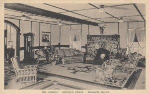 SEBASCO, Maine, 1910s; The Lounge, Sebasco Lodge