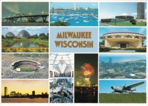 Wisconsin Milwaukee County Stadium Grand Avenue Skyline and More