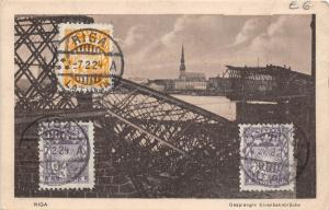 BC60769 Latvia Riga Gesprengie Eisenbahnbrucke