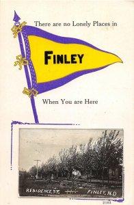 G38/ Finley North Dakota RPPC Postcard c1910 Pennant Residence St 8