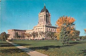 Legislative Building Winnipeg Manitoba MB Quebec Canada 1957