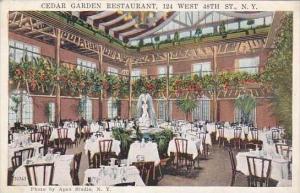 New York City Cedar Garden Restaurant 124 West 48th Street