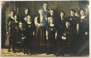 RPPC Postcard International Organization of Good Templars IOGT Hallock Minnesota