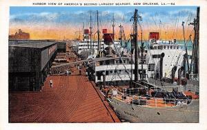 USA La. New Orleans Harbor View America's 2nd Largest Seaport harbour port