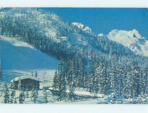 Pre-1980 LODGE SCENE Snoqualmie Pass Washington WA J7667