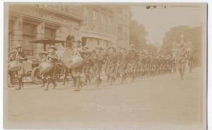 25th Brighton Boy Scout Troop, PPC, Unposted c 1910's, Marching, Note Model T