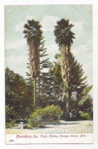 Pasadena CA Twin Palms Orange Grove Ave Vntg PCK Paul Koeber California Postcard