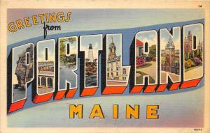 4691 LARGE LETTER  Greetings from Portland, Maine