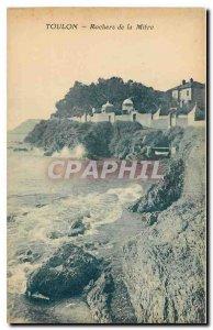 Old Postcard Toulon Miter Rocks