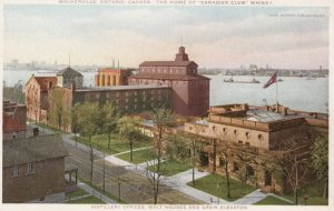 WALKERVILLE, Ontario, Canada, 1910-20s; Distillery Offices, Malt Houses and G...