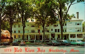 Red Lion Inn Stockbridge MA Berkshires Tanglewood Brigham tavern vtg Postcard