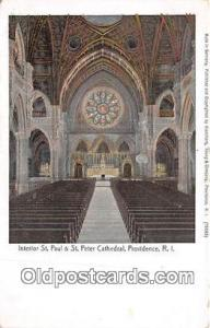 Providence, RI, USA Postcard Post Card Interior of St Paul & St Peter Cathedral
