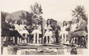 RP: May Day , Court &  May Queen Sitting , KAMLOOPS , B.C. , Canada , 1923 ; #1