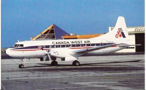 Canada West Air, Convair 640, unused Postcard