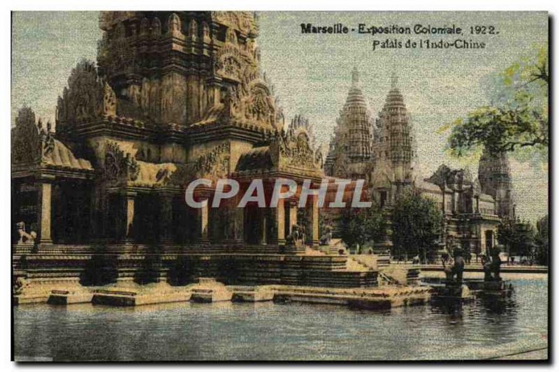 Old Postcard Marseille Exposition Coloniale 1922 Palace of China & # 39Indo