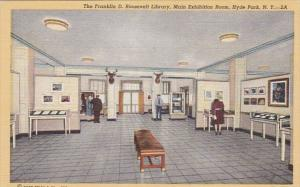 New York Hyde Park Exhibition Room At Franklin D Roosevelt Memorial Library C...