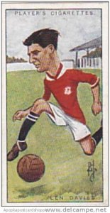 Players Vintage Cigarette Card Footballers Caricatures RIP 1926 No 10 Len Davies